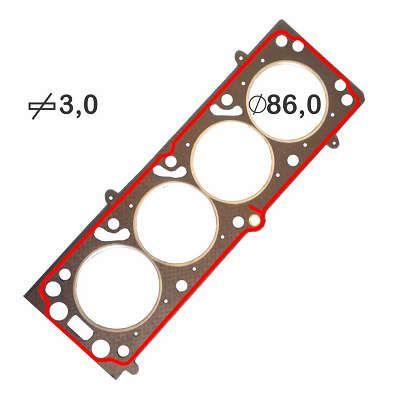 Junta de Cabeçote 3mm GM Astra Monza Kadett 1.8 8v Fase 1 e 2