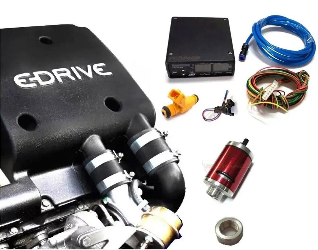 Kit E-Drive Biagio com Eletronica HIS Efic Turbo Valvula Bico