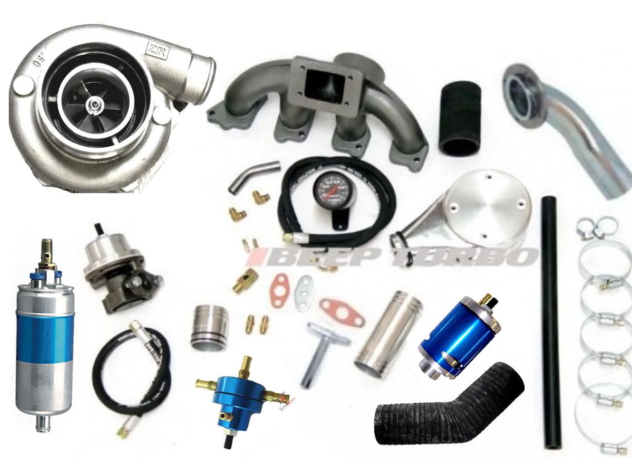 Kit Turbo GM Chevette 1.6 Turbina P50 Carburador 460 Bomba 12 Bar