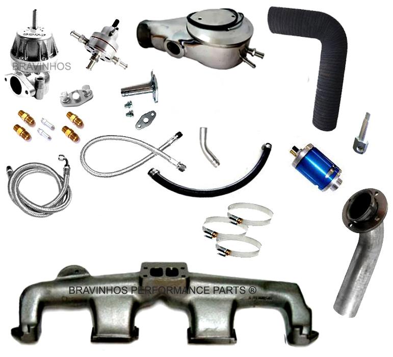 Kit Turbo GM Opala 6 Cilindros Carburado 2E s/ Turbina