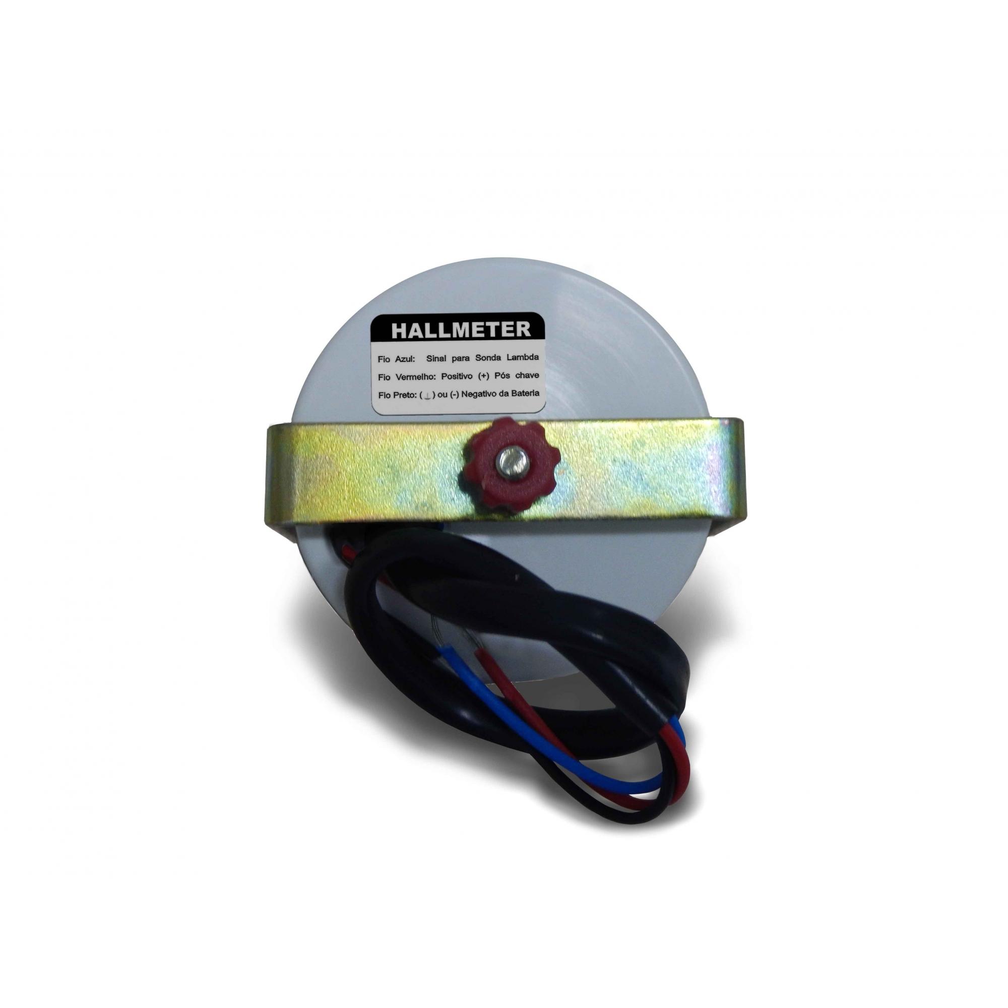 Manômetro Cronomac Hallmeter 52mm Preto