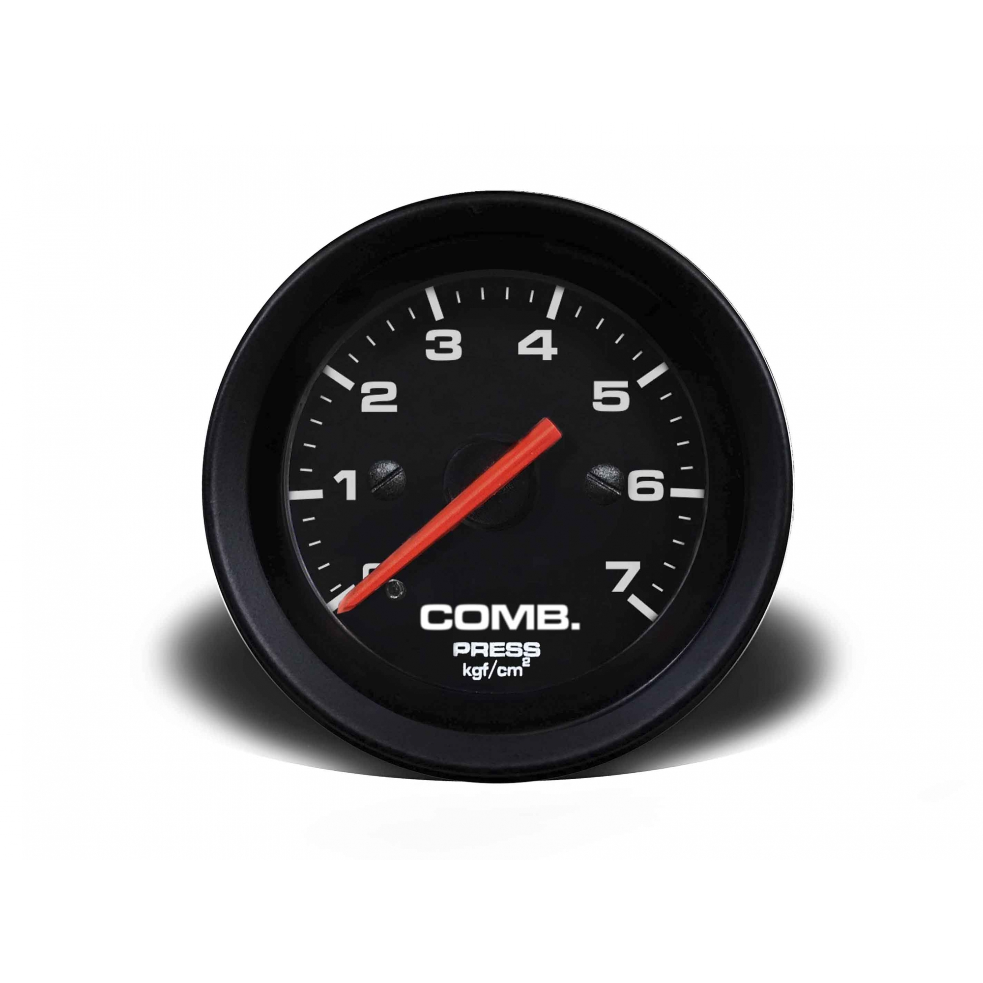 Manômetro Cronomac Street Pressão Combustível 7 bar 52mm Preto