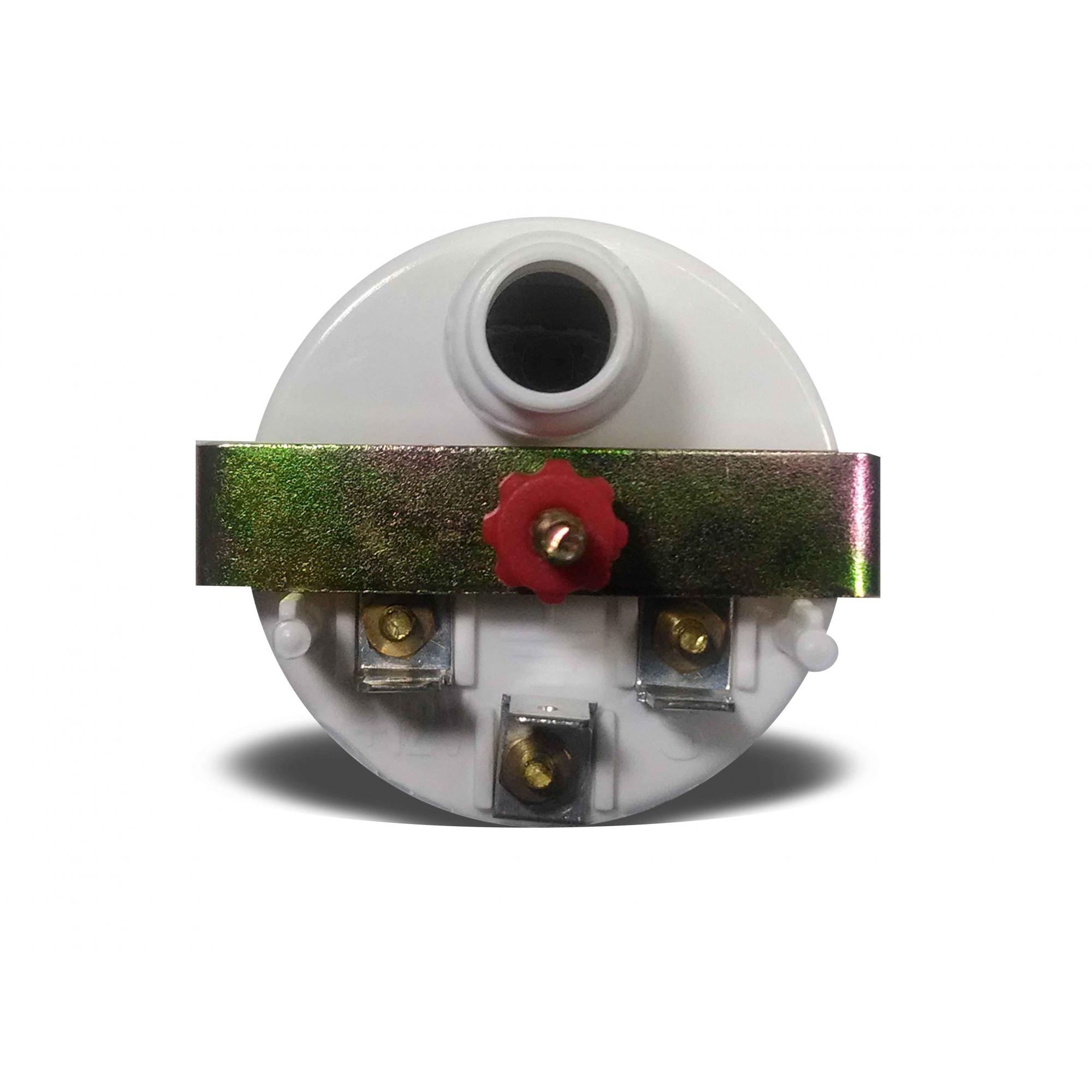 Manômetro Indicador Nível de Combustível 52mm Elétrico Street Preto