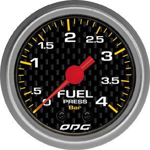 Manômetro ODG Carbon Pressão Combustível Fuel 4 bar 52mm