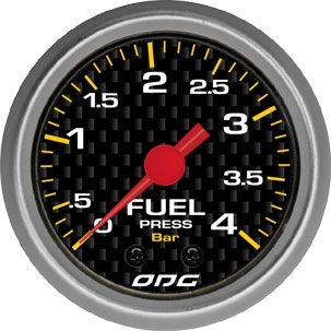 Manômetro ODG Carbon Combustível Fuel 4 bar 52mm