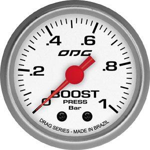 Manômetro ODG Drag Turbo Boost 1 bar 52mm