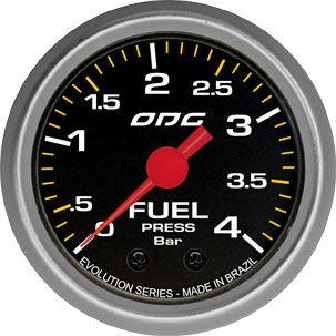 Manômetro ODG Evolution Pressão Combustível Fuel 4 bar 52mm