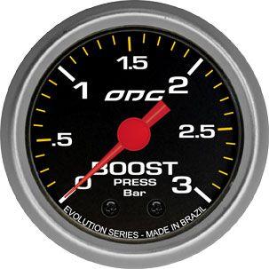 Manômetro ODG Evolution Turbo Boost 3 bar 52mm