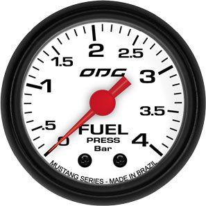Manômetro ODG Mustang Pressão Combustível Fuel 4 bar 52mm