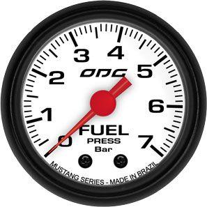 Manômetro ODG Mustang Pressão Combustível Fuel 7 bar 52mm