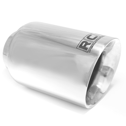 "Ponteira de Escape Esportiva Race Chrome Aço Inox Chanfrada 4"" RC535"
