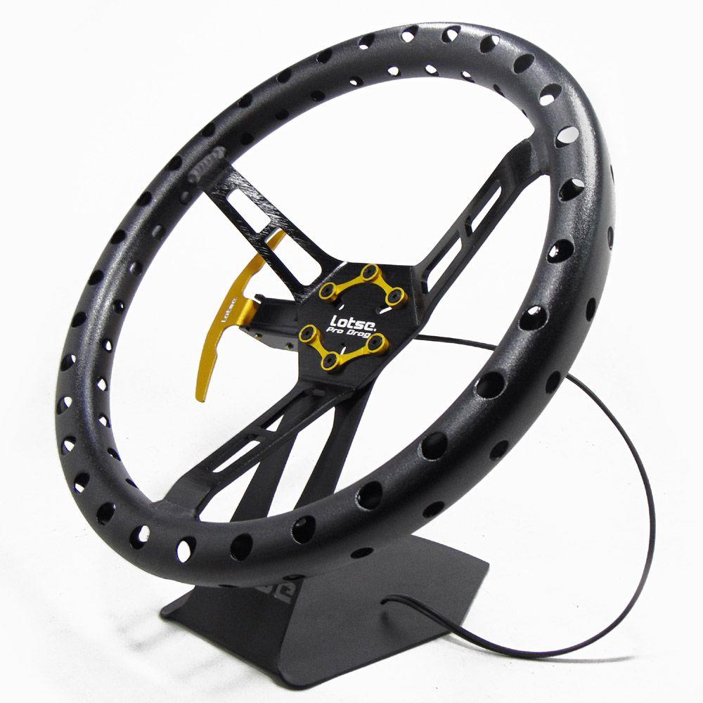 Volante Esportivo Lotse Alumínio Pro Drag Aliviado com Cubo Adaptador