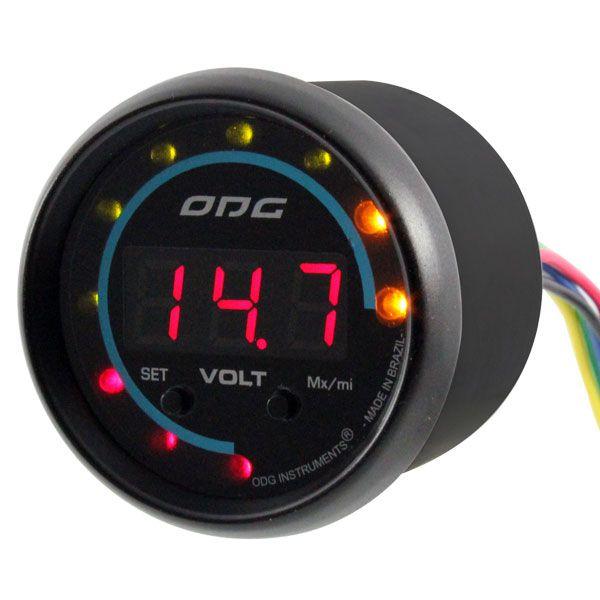 Voltímetro Digital ODG Dakar 52mm