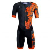 MACAQUINHO COM MANGAS TRIATHLON MASCULINO (POWER-ORANGE)