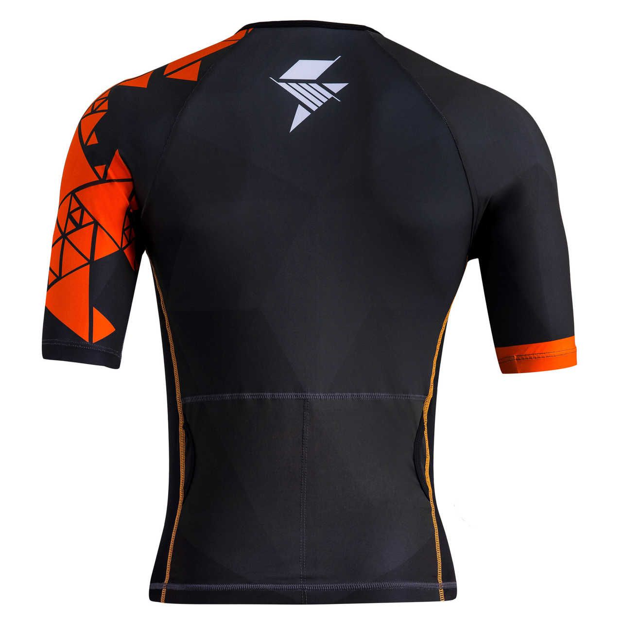 TOP COM MANGAS TRIATHLON MASCULINO - POWER ORANGE