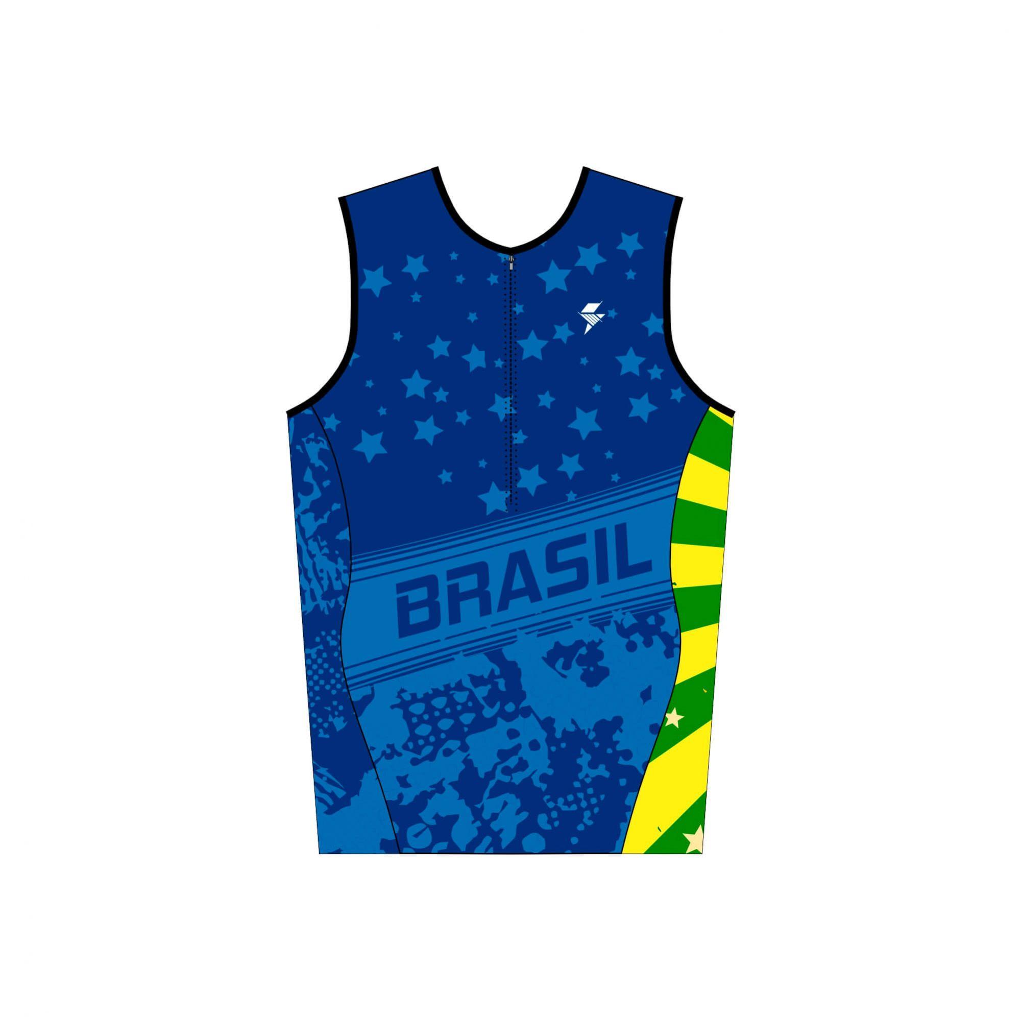 TOP SEM MANGAS BRASIL MASCULINO