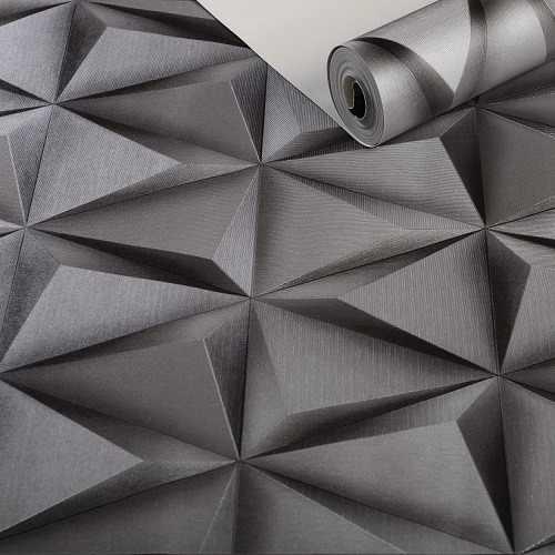 Papel De Parede Geométrico Texturizado - K932