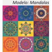 Mandalas - Kit 18 Adesivos 15x15 cm