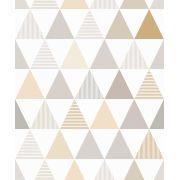 Papel de Parede Infantil Triângulos - Modelo LA5036