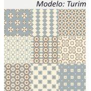 Turim - Kit 18 Adesivos 15x15 cm