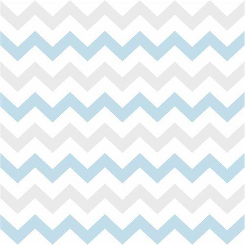 Papel De Parede Adesivo - 50cmx3m - Chevron Azul E Cinza