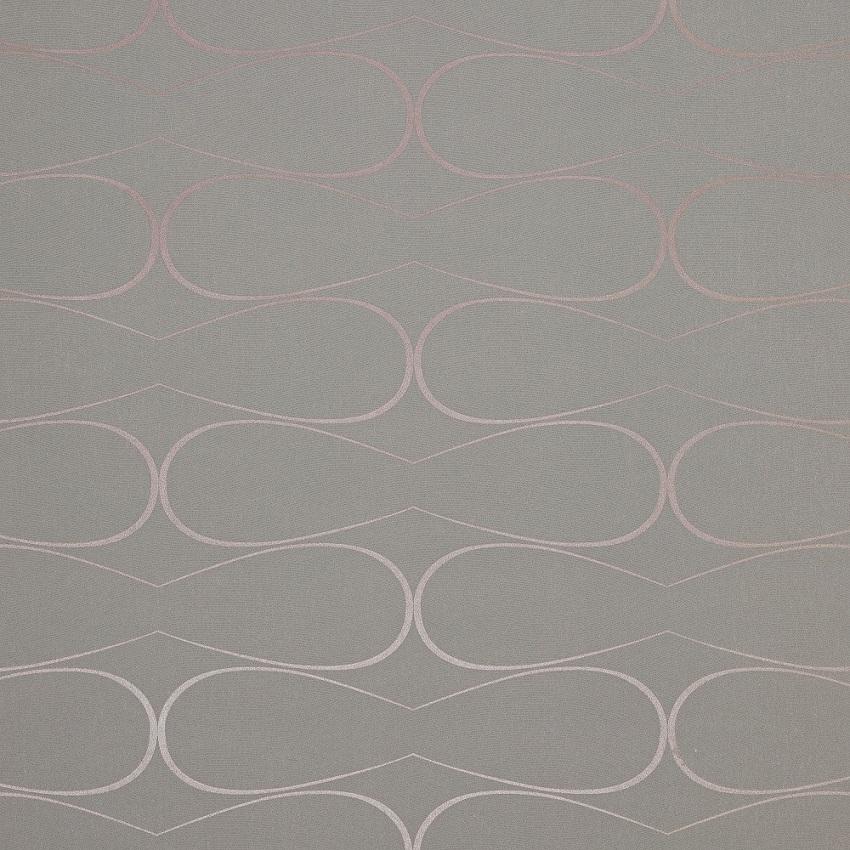 Papel De Parede Cinza com Rosê Geométrico 3d Importado La5081