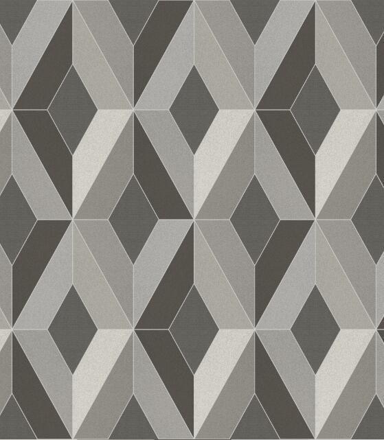 Papel De Parede Geométrico Texturizado - K937