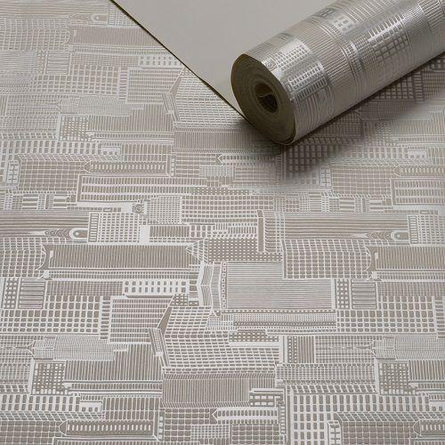 Papel De Parede Geométrico Texturizado - K956