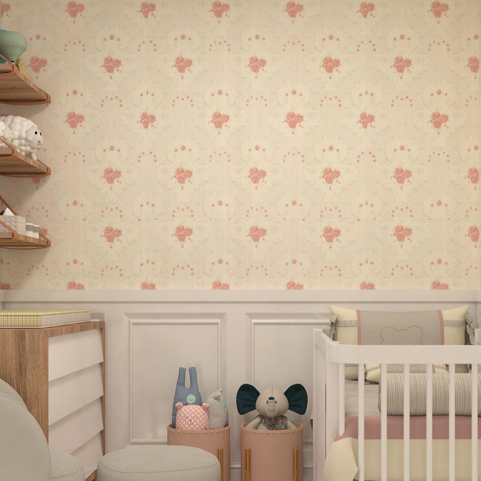 Papel De Parede Infantil Importado Vinílico Texturizado K466