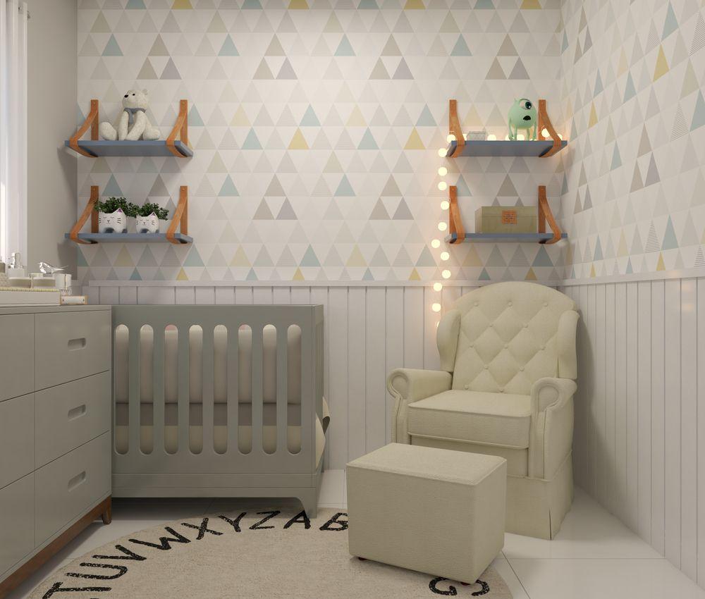 Papel de Parede Infantil Triângulos - Modelo LA5035