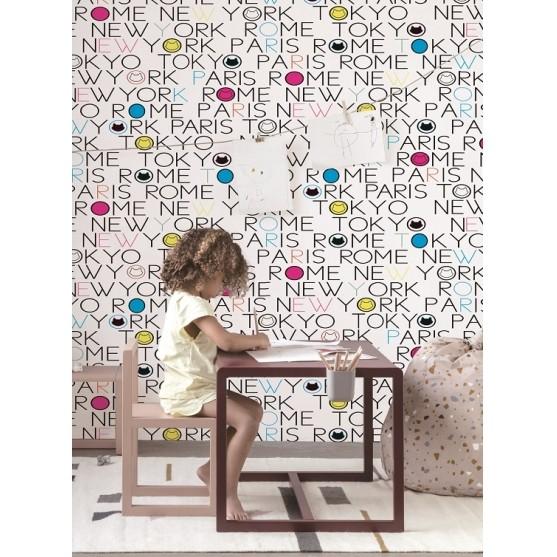 Papel De Parede Letras Infantil Importado Vinílico La5053