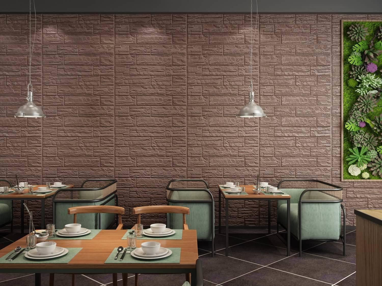 PLACA 3D ESPUMA PEDRA CULTURAL CAFE 70X77 8MM