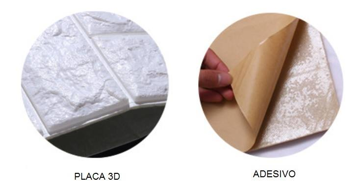 PLACA 3D ESPUMA TIJOLO CLASSICO BRANCO 70X77 8MM