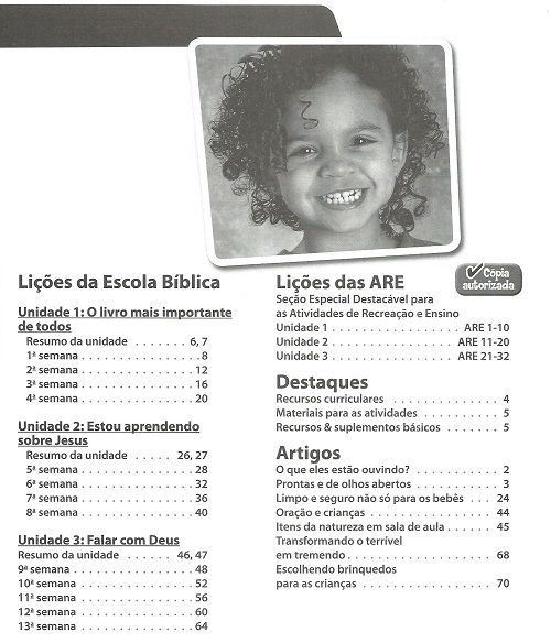 Ensino Bíblico Kids - 1 a 2 anos - Ano 1 Trimestre 2 - Revista do Aluno