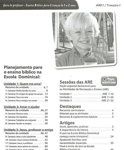 Ensino Bíblico Kids - 1 e 2 anos Ano 1 Trimestre 1 - Recursos Didáticos