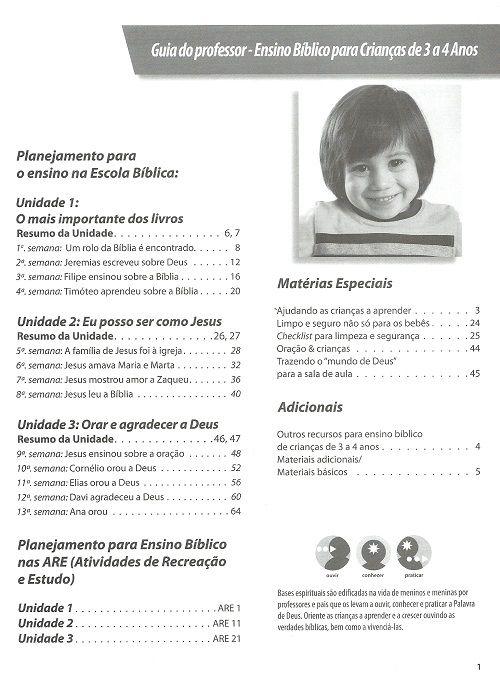 Ensino Bíblico Kids - 3 a 4 anos - Ano 1 Trimestre 2 - Revista do Professor