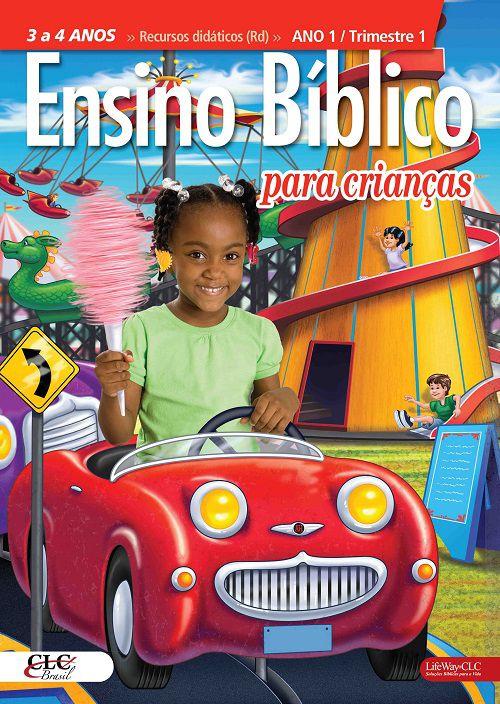 Kit 3 - Ensino Bíblico Kids - 3 e 4 anos - Ano 1 Trimestre 1
