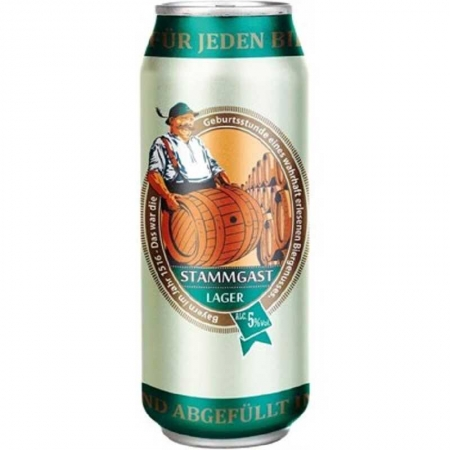 Cerveja Stammgast Lager Lata 500 ml