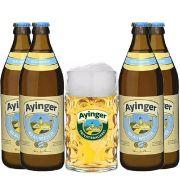 Kit Ayinger contendo 4 Cervejas com Caneca 500 ml Gratuita