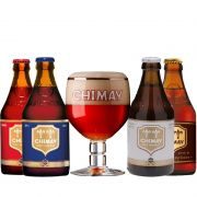 Kit Chimay 4 Cervejas com Taça