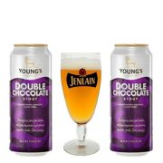 Kit Com 2 Cervejas Youngs Double Chocolate com Taça Jenlan