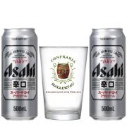 Kit de Cerveja Asahi com Copo Hallertau 350 ml