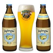 Kit de Cerveja Ayinger Brauweisse com Copo Weizen Gratuito