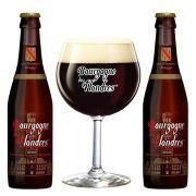 Kit de Cerveja Bourgogne des Flanders Brune com Taça 250 ml