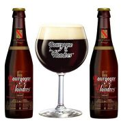 Kit de Cerveja Bourgogne des Flandres Brune com Taça 250 ml