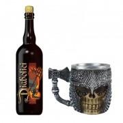 Kit de Cerveja Diabolici 750 ml com Caneca Medieval Machado