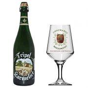 Kit de Cerveja Tripel Karmeliet 750 ml com Taça Hallertau 400 ml