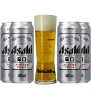 Kit de Cervejas Asahi com Copo