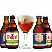 Kit de Cervejas Belgas com Taça de Koninck