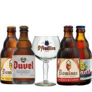 Kit de Cervejas Belgas com Taça St Feuillien